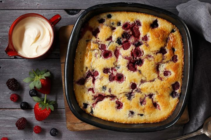 Berry pudding 1