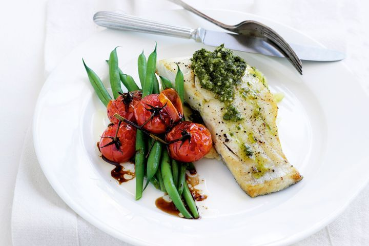 Blue-eye trevalla with almond pesto 1