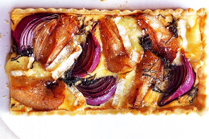 Brie and caramelised pear tart 1