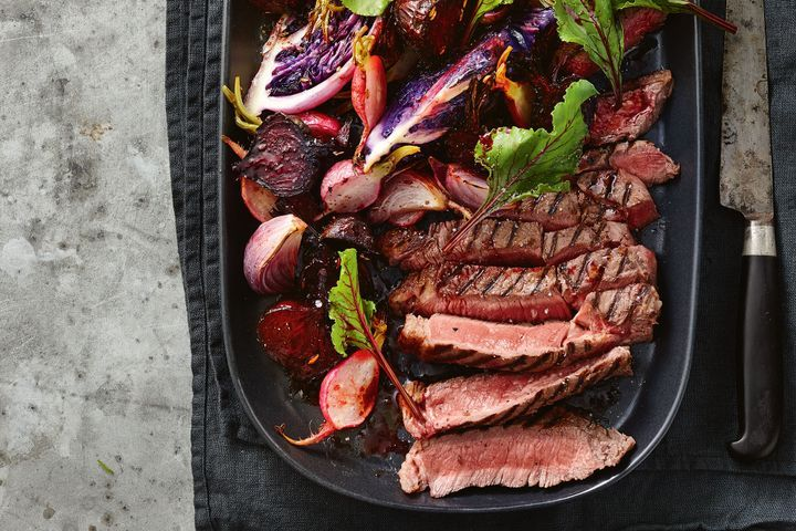 Chargrilled beef with fennel and sumac vegetables 1