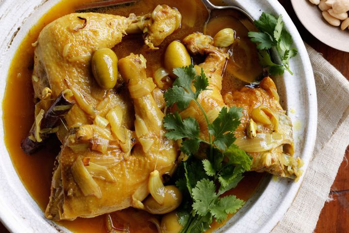 Chicken, almond and olive tagine 1