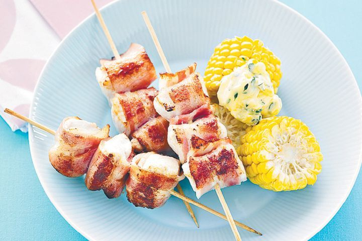 Chicken and bacon skewers with lemon thyme butter 1