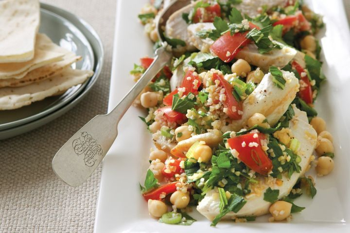 Chicken and chickpea tabouli salad 1