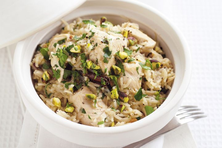 Chicken and pistachio pilaf 1