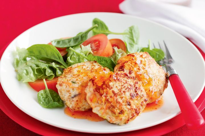 Chicken and vegetable rissoles 1