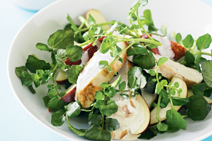 Chicken, apple and watercress salad 1