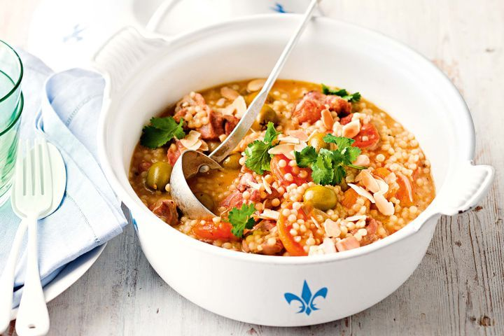 Chicken, apricot and pearl couscous tagine 1