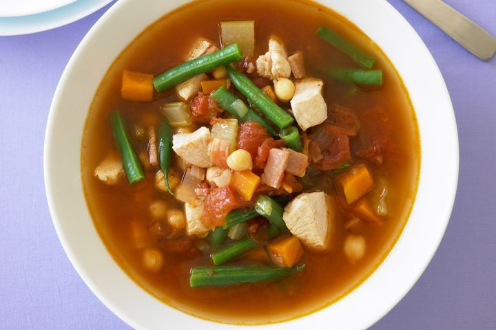 Chicken, tomato and chickpea soup 1