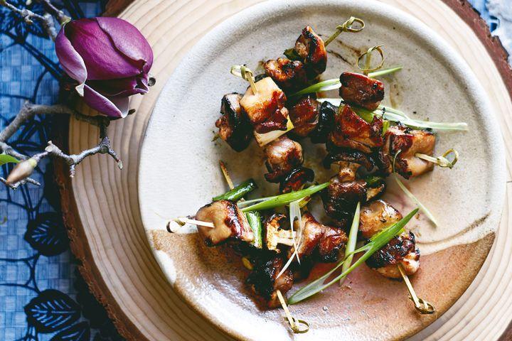 Chicken yakitori skewers 1