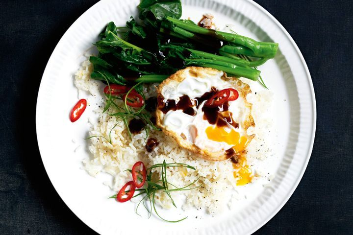 Chinese fried eggs with sticky ginger rice 1