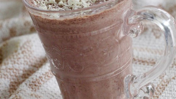 Chocolate Peach Smoothie 1