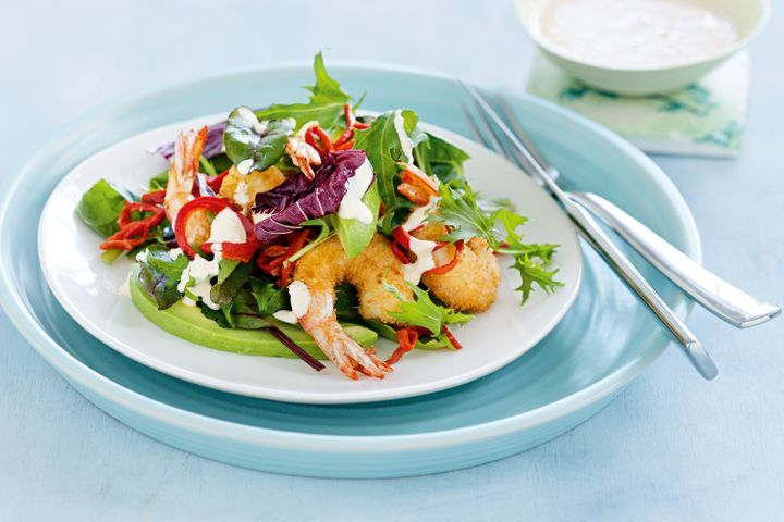 Coconut prawn salad 1
