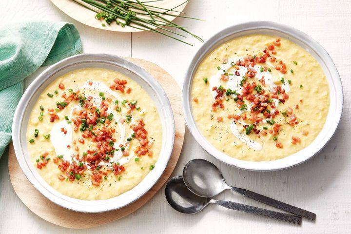 Creamy corn soup 1