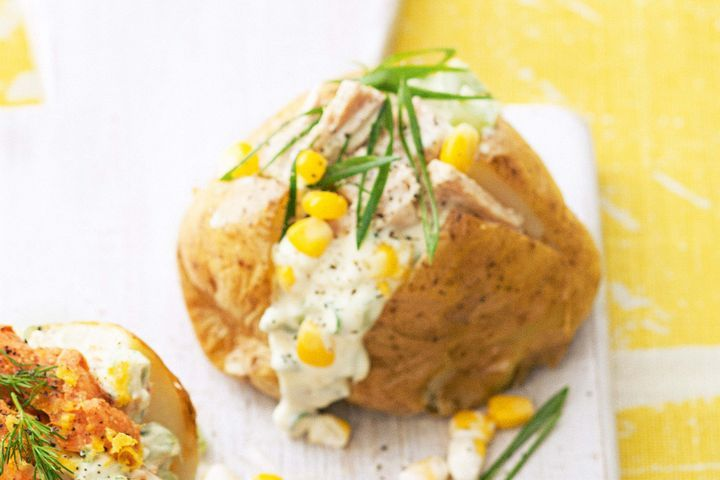 Creamy tuna and celery jacket potatoes 1