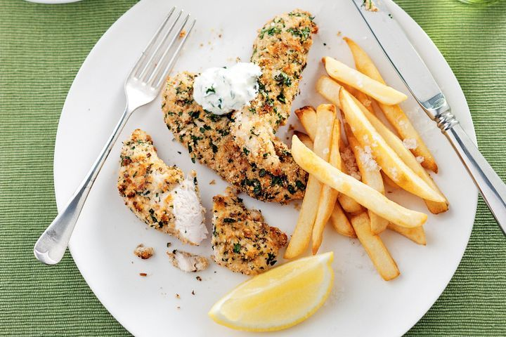 Crispy chicken with gremolata yoghurt 1