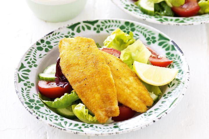 Crispy fish schnitzels 1