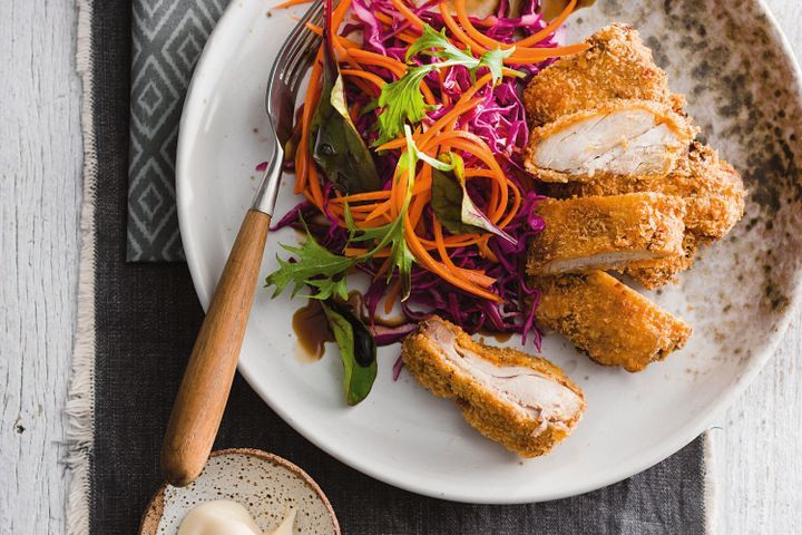 Crunchy chicken with cabbage and carrot quickle 1