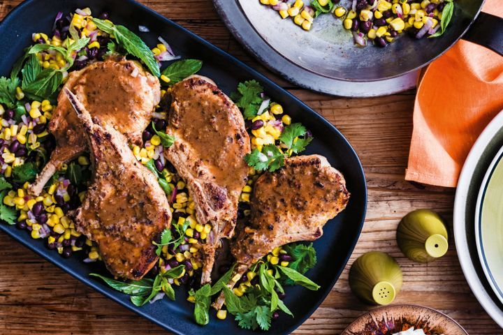 Cuban-style pork cutlets and black beans 1