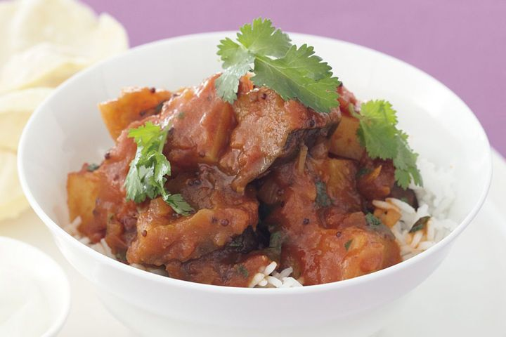 Eggplant and potato curry 1