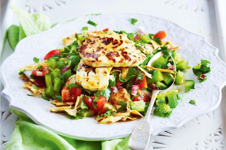 Fattoush salad with grilled haloumi 1
