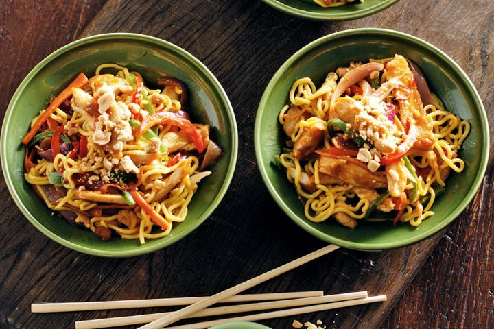 Ginger chicken and peanut noodles 1