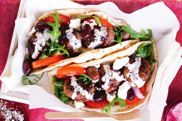 Greek beef burgers 1