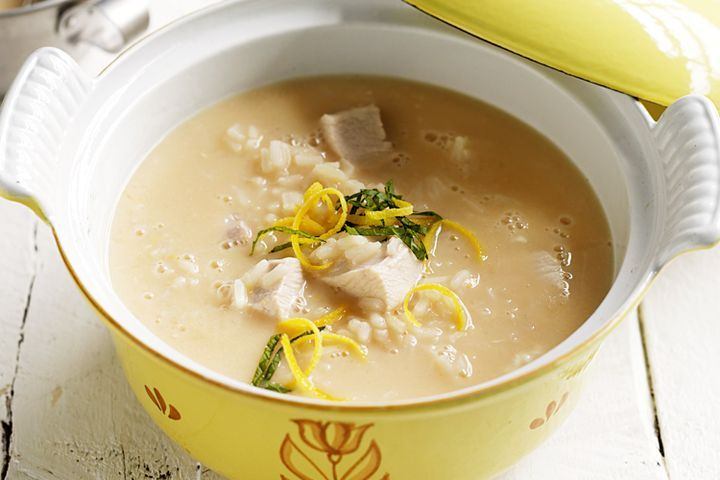 Greek lemon chicken soup 1