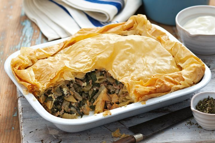 Greek pasta filo pie 1