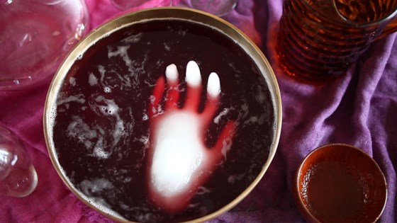 Halloween Punch with Frozen Hand 1