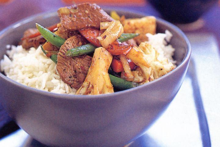 Hoisin lamb and vegetable stir-fry 1