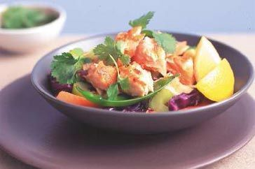 Honey and ginger stir fry with salmon 1