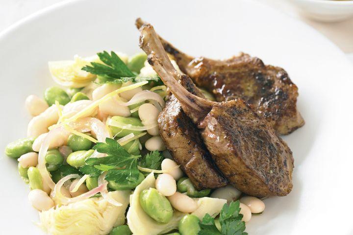 Lamb and warm artichoke salad 1