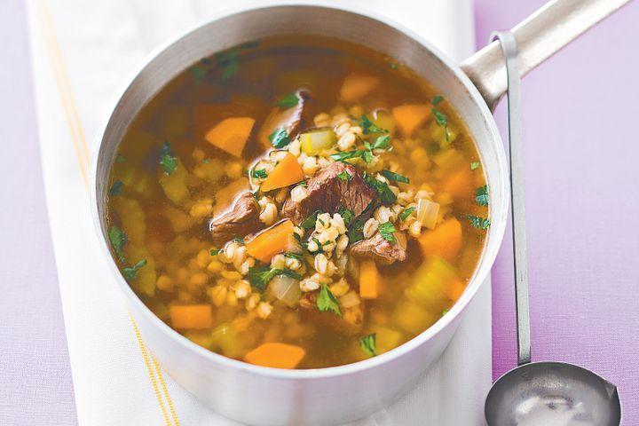 Lamb, vegetable and barley soup 1