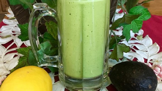 Lemon Spinach Mint Smoothie 1