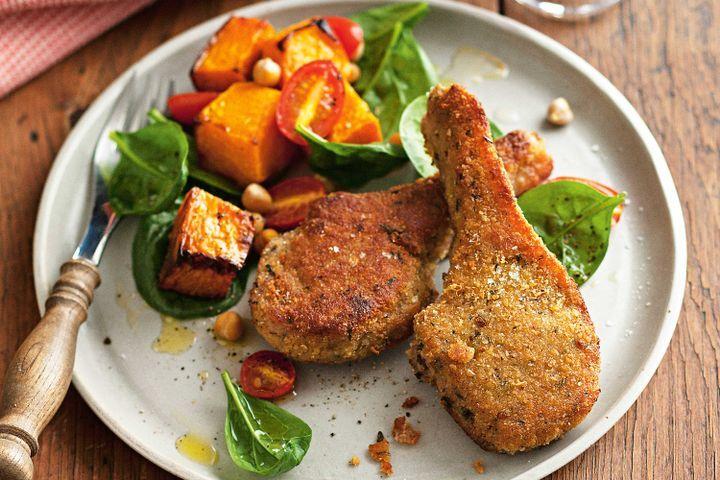 Lemon and thyme lamb with warm pumpkin salad 1