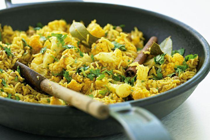 Lentil and cauliflower pilaf (low-fat) 1