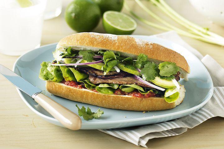 Mexican-style steak sandwich 1