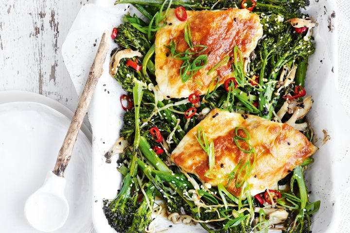 Miso butter snapper with broccolini 1