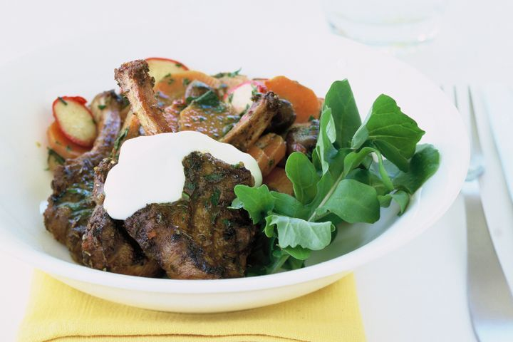 Moroccan lamb with carrot salad (low-carb) 1