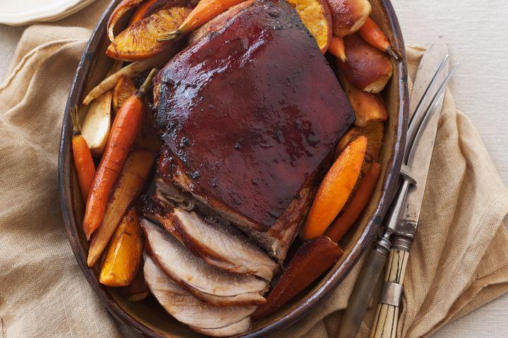 Orange and ginger slow-roasted pork shoulder 1