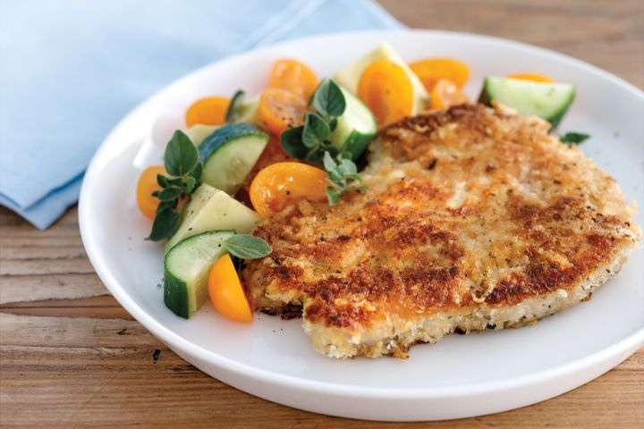 Parmesan and herb crumbed pork chops 1