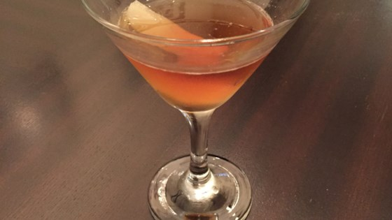 Pear Manhattan Cocktail 1