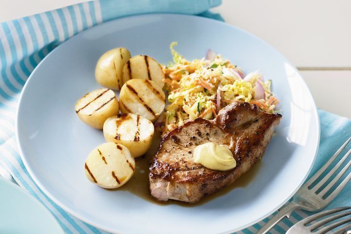 Pork with coleslaw & chargrilled potatoes 1