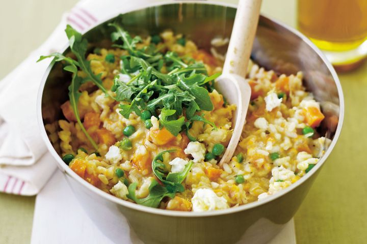 Pumpkin & goat's cheese risotto 1