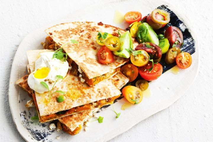Pumpkin and chickpea quesadillas with jalapeno salsa 1
