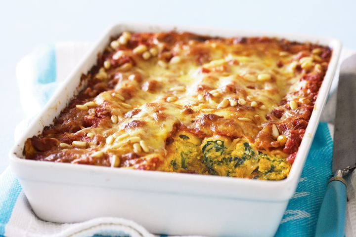 Pumpkin, spinach & ricotta cannelloni with chilli sauce 1