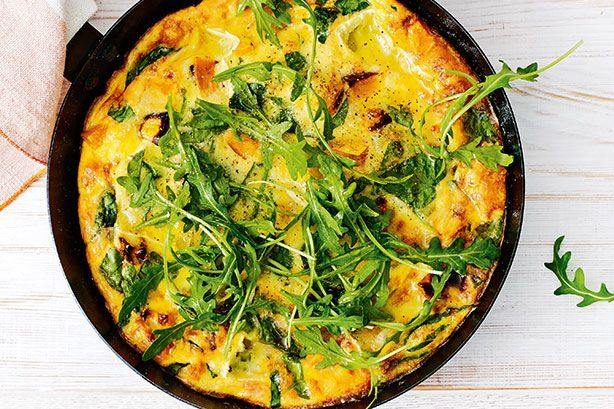 Pumpkin, spinach and brie frittata 1