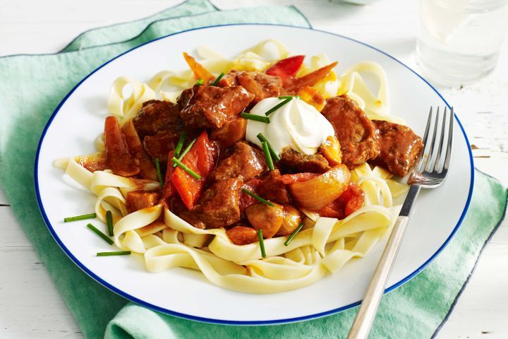Quick beef goulash 1