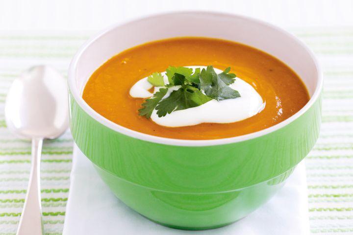 Red lentil and pumpkin soup 1