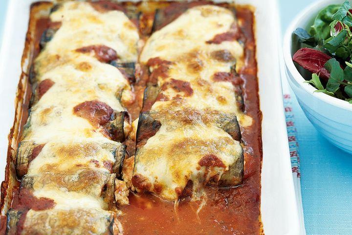 Ricotta eggplant rolls 1